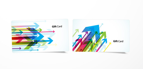 Vector colored business cards.