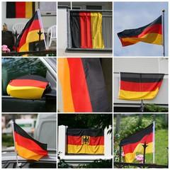 9er-Collage Deutschlandfahnen