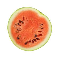 Small watermelon cut in half