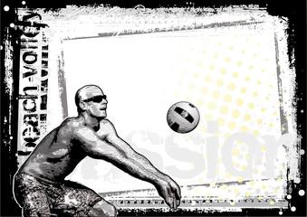 beach volleyball background 4