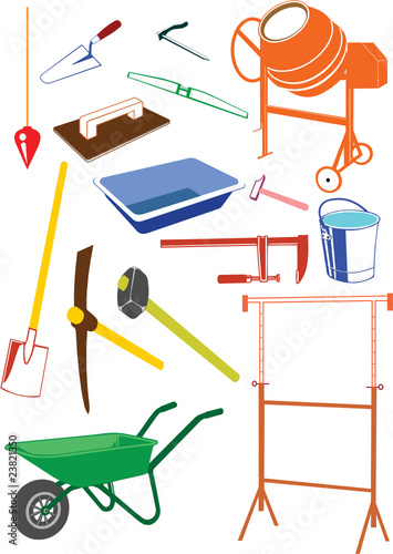 Outils de construction fichier vectoriel libre de droits for Outil de construction