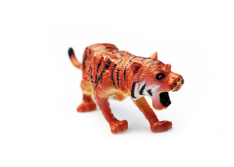 Toy plastic tiger