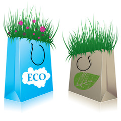 Eco Shopping bags. vector illustration