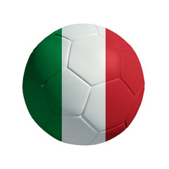 3D Ball withi Italy  Flag