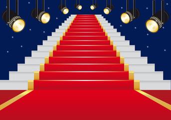 escalier - tapis rouge - cinéma - réussite - succès - gloire - star - film