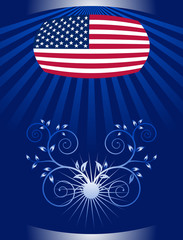 vector 4th of July background Design