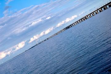 Pont du Grand Belt, entre l'île Sjælland et Fionie au Danemark