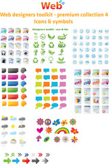 Web designers toolkit - premium collection 4, icons & symbols