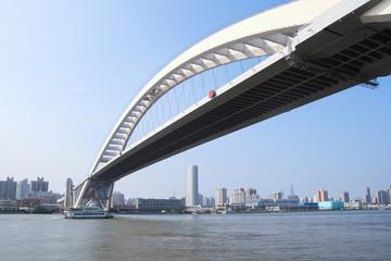 Fotobehang - modern highway bridge
