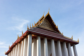 Traditional Thai style on temple
