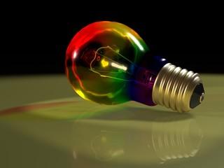 Rainbow bulb scene