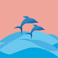 Photo sur Aluminium Dauphins delfini