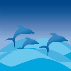Tuinposter Dolfijnen delfini