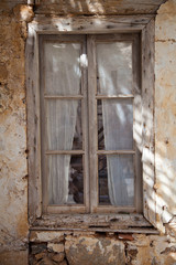 Very old wooden window