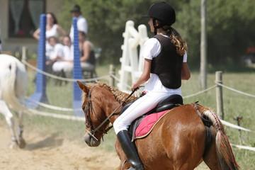Enfant a cheval