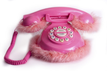 Funny pink phone