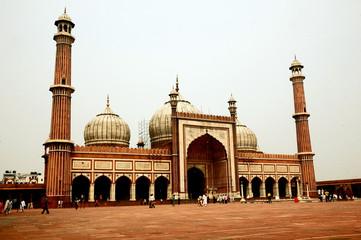 Photo sur Plexiglas Delhi New Delhi, Jama Masjid