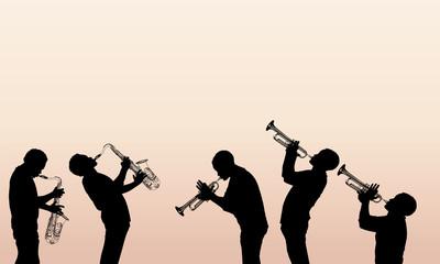 Fototapete - jazz brass musician