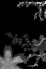 Weisse Blumenornamente mit Platz für Text