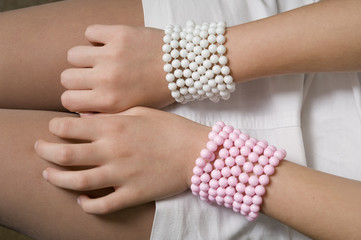 Bangles made of beads