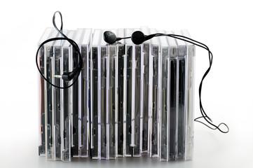 compact-disc musica con auricolari