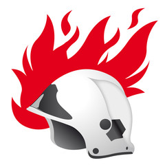 firefighters - helmet & flames