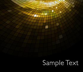 Golden business mosaic.