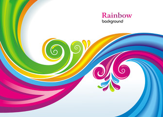 Colorful rainbow background.