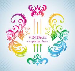 Colorful vintage frame.