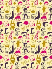 Seamless doodles pattern