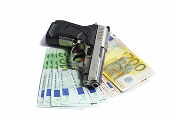 Pistol on euro