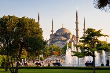 Vor der Blauen Moschee, Istanbul, Türkei