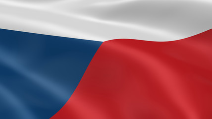 Czech flag in the wind