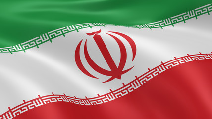 Iranian flag in the wind
