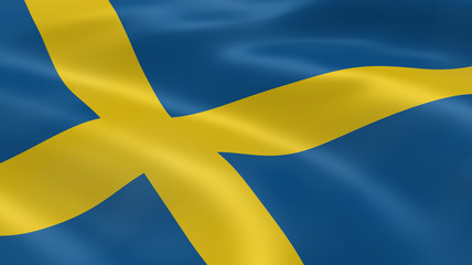 Swedish flag in the wind