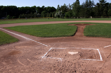 Unoccupied Baseball Field
