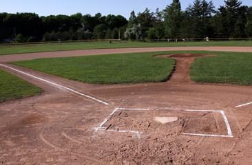 Unoccupied Baseball Field
