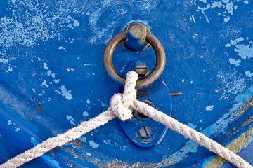 Old blue boat line