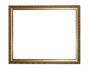 Aged, plated empty picture frame