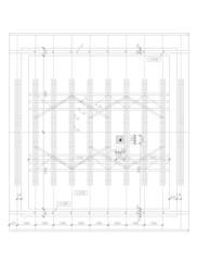 2D ground plan of truss