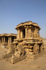 Vittala temple and the stone chariot in hampi