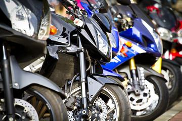 modern and vintage motorbikes