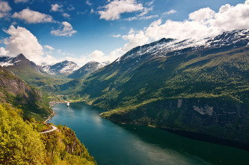 Photo sur Plexiglas Scandinavie Geiranger Fjord (Norway)