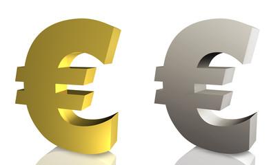 Euro Währung in Gold und Silber
