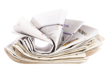 newspaper stack, information concept