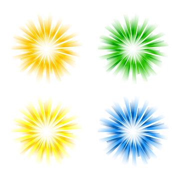 Set of sunburst vectors