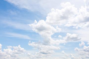 cloudy on the blue sky