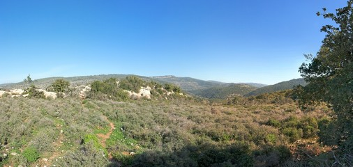 Mediterranean hills landscape