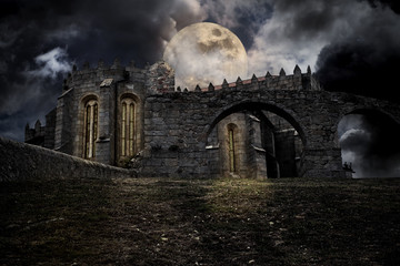 Medieval halloween scenery