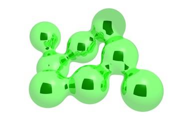 Green sticky spheres